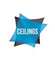 logo of ceilings floors vector image vector image