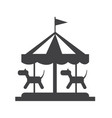 merry go round icon vector image
