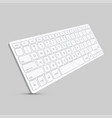 modern computer keyboard background vector image