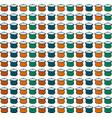 multicolor saucepan wallpaper on white background vector image