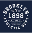 new york brooklyn typography badge for t-shirt vector image vector image