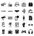 note icons set simple style vector image vector image