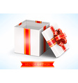 opened white gift box vector image vector image