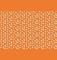 orange background scattered dots polka seamless vector image vector image