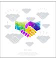 polygon-handshake vector image vector image