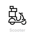 Scooter icon editable line