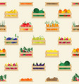 seamless pattern with natural organic fruits and vector image vector image