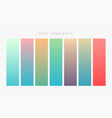 set of bright colroful gradients set vector image vector image