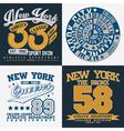set tee shirt print designs vector image vector image