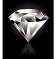 shiny diamond vector image vector image