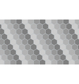 Silver hexagonal geometric background vector image vector image