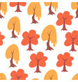 simple seamless tree pattern vector image vector image