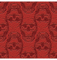 skulls on leather vector image vector image