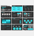 template of white slides for presentations vector image