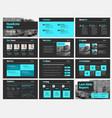 template white slides for presentations vector image