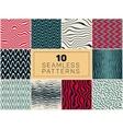 ten seamless hand drawn patterns vector image