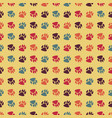 traces of dog seamless pattern print of pet vector image