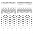 Wavy zigzag curved lines