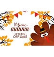 welcome autumn day sale vector image