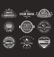 white bbq grill logo label badge emblem set vector image vector image