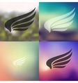 wing icon on blurred background vector image