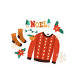winter clothes flat warm vector image vector image