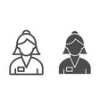 woman banker line and glyph icon bank worker vector image