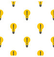 yellow bulb with exclamation mark inside pattern vector image vector image