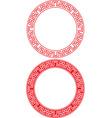 Chinese Circle Ornament vector image