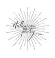 Halloween party typography label Holiday vector image