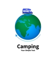 a concept of camping vector image vector image
