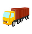a large truck for the transport of goods vector image vector image
