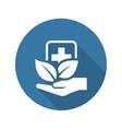 Alternative Medicine Icon Flat Design vector image vector image