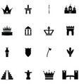 archeology icon set vector image