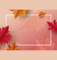 autumn leaves background design with copy space vector image vector image