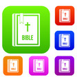 bible set collection vector image vector image