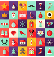 Big Christmas Squared Flat Icons Set 1 vector image vector image