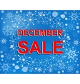 Big winter sale poster with DECEMBE SALE text vector image vector image