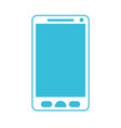 blue color silhouette of smartphone icon vector image vector image