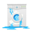 broken washing machine household appliance defect vector image