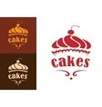 Cakes bakery emblem vector image
