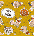 cartoon halloween seamless pattern vector image vector image