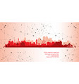cityscape geometric connection background vector image vector image