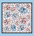 colorful silk scarf with flowering poppie vector image vector image