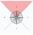 Compass rose isolated vector image