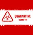 coronavirus warning sign vector image vector image