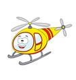 cute cartoon helicopter vector image