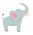 cute elephant cartoon flat sticker or icon vector image