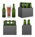 dark beer pack mockup set isolated vector image vector image