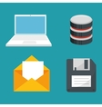 data center set icons vector image